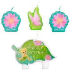 New Disney Tinkerbell (4pc) Birthday Candle Set Kids Birthday Party Supplies~