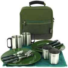 Ngt deluxe pêche camping picnic day set de couverts assiettes fourchettes serviette tasses 109