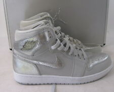 "2009 AIR JORDAN 1 RETRO HI SILVER ""25TH ANNIVERSARY 396009 001 SIZE 11.5"