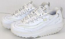 Womens Skechers Shape Ups Sneakers Shoes White Silver Leather Upper Size 7