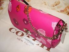 COACH FLORAL PRINT MINI RUBY CROSSBODY/SHOULDER BAG PINK F35553