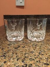 Pair of Glenfiddich Scotch Whisky Glasses - With Panel Skye