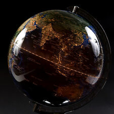 Table Top Globe Lamp Desktop Lighted World Decor Night Round Map Jordglob
