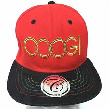 Coogi hat cap OSFM red and black snap back