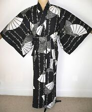 NEW MEN'S COTTON, JAPANESE MADE, YUKATA STYLE DRESSING GOWN ROBE with BELT