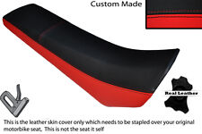 BLACK & RED CUSTOM FITS DERBI SENDA SM 50 02-10 FRONT LEATHER SEAT COVER