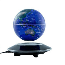 Office Decor Magnetic Levitation Maglev Levitating Floating Globe World Map Blue