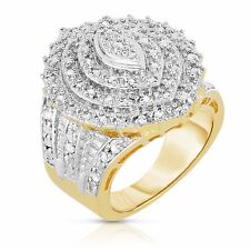1.00 CTW Marquise Shaped Cocktail Ring in Yellow Gold Plated Brass