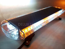 56 LED LIGHT BAR EMERGENCY BEACON WARN TOW TRUCK PLOW RESPONSE AMBER&WHITE 30""