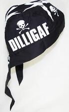 skull cap hat do du doo rag DILLIGAF skull cross bones