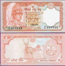 NEPAL 20 (TWENTY) RUPEES DEER NOTE XF