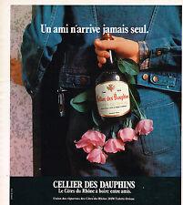 PUBLICITE  1976   CELLIER DES DAUPHINS   vin