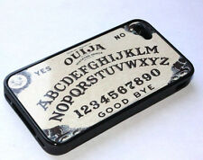 for iPhone 4 / 4S -Black Ouija Board Mystery Numbers Hard Rubber Gummy TPU Cover