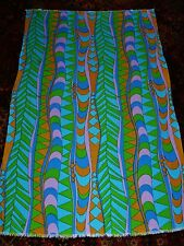 "Vintage Mid Cent Grain Sack Linen Fabric 66"" x 41"" Psychedelic Screen Print"
