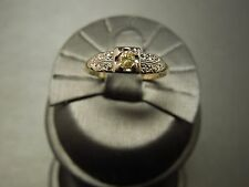Vintage Estate C1950 14K Gold .09ct Natural Fancy Canary Diamond Engagement Ring