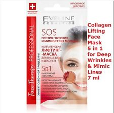 EVELINE Collagen Lifting Face Mask 5in1 for Deep Wrinkles & Mimic Lines - 7 ml