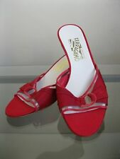 bagsclothesetc: USED Authentic FERRAGAMO Red Slide Shoes 7 1/2, 2A FREE SHIP