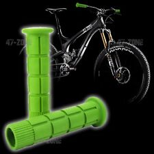 2x Green BMX Bike Bicycle Handle Bar Grip Non Slip OE Style Soft Rubber Covers