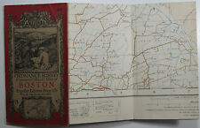 1922 old vintage OS Ordnance Survey one-inch Popular Edition Map 56 Boston