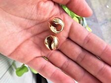 Brass Ear Weights Small Knuckle Diablo Organic 10 Grams each Stretched Earlobes