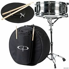 "GP PERCUSSION SK22 STUDENT 14"" x 5.5"" SNARE DRUM KIT WITH CASE, STAND & STICKS"