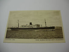 Lot36w - Anchor Line - CALEDONIA Postcard