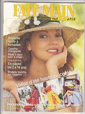 FAIT MAIN pas à pas N°6 Juin 1993  couture tricot décoration