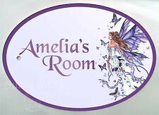 Personalised Plastic Signs/ Plaques Fairy Butterfly Angel Name Number Memorial