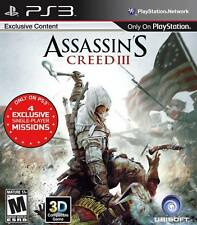 Assassin's Creed III 3 Playstation 3 Game PS3