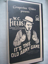 a IT'S THE OLD ARMY GAME W C FIELDS NTSC VHS SMALL BOX