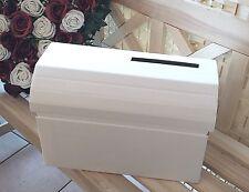 Briefbox für Karten Geldgeschenke Kartenbox weiß Hochzeit  basteln Hochzeit