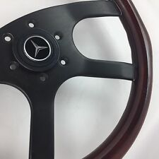 Genuine Raid wood steering wheel. Mercedes AMG SL G-Wagen W123 190 CL W129 etc