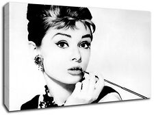 AUDREY HEPBURN FRAMED CANVAS ART PICTURE HUGE A1 SIZE 32 X 22 NEW