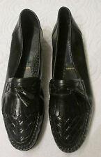 CLAYBROOKE Black Leather Fringe & Tassel Moc Loafer  Men's Size 12D