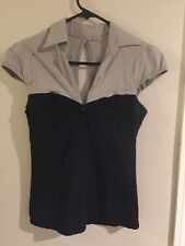 Size Small-Open Back, Clip Front, Perfect For Work Blouse-FreeShipping