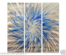 Metal Wall Art Sculpture Blue Pinwheel by Ash Carl