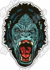 "Angry Gorilla Scary Head Back Off Car Bumper Window Vinyl Sticker Decal 3.8""X5"""