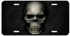 CUSTOM LICENSE PLATE STONE SKULL AUTO TAG