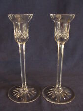 Rogaska Crystal Pair of Candlestick Candle Holders. Richmond Pattern. Marked