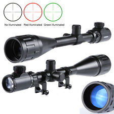 New 6-24x50 AOEG Red Green Mil-dot Illuminated Sight Rifle Scope With a Sunshade