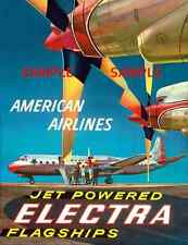 "American Airlines 8.5' X 11""  Travel Poster  - [ FLAGSHIP ]  -"