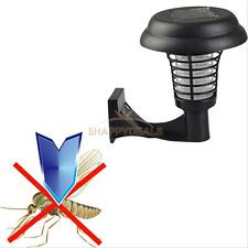 Solar Powered UV Garden Lawn LED Light Mosquito Insect Pest Bug Zapper Killer