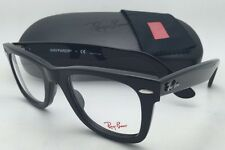 New RAY-BAN WAYFARER Eyeglasses RB 5121 2000 47-22 Black Frame / Clear Demo Lens