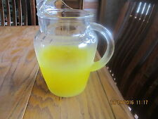 WEST VIRGINIA ANCHOR HOCKING GLASS VINTAGE PITCHER OMBRE YELLOW