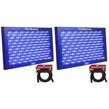 2) Chauvet DJ ColorPalette LED Panel Stage Wash Lights+DMX Controls+2 DMX Cables