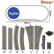 """Roco 61151-D2 Gleis-Set 38-teilig mit 2 Weichen """"Digital"""" (Spur H0) ++ NEU ++"""
