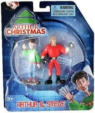 Arthur Christmas Mini Figure 2 Pack Arthur & Steve New