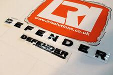 Land Rover Defender 90 110 bonnet + rear gloss black badge 3D lettering emblem