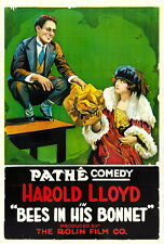 "Harold Lloyd Bees in His Bonnet Pathe Movie Poster Replica 13x19"" Photo Print"