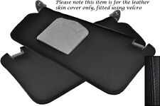 BLACK STITCH FITS TOYOTA CELICA MK7 99-06 2X SUN VISORS LEATHER COVERS